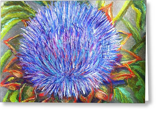 Artichoke Blossom Greeting Card