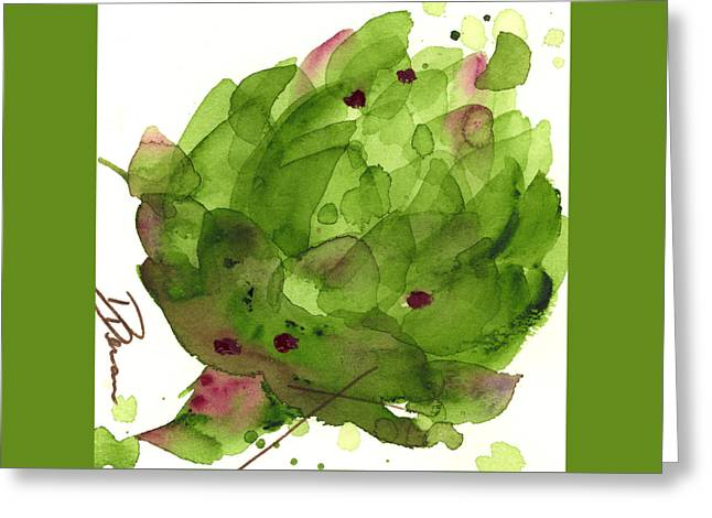 Artichoke II Greeting Card by Dawn Derman