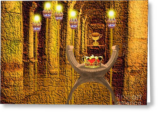 Artifacts From Castle Greeting Card by Belinda Threeths