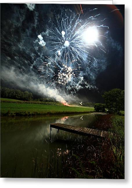 Artificial Illumination Greeting Card by Cody Arnold
