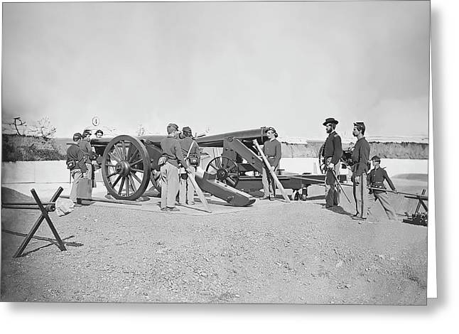 Artillery Drill In Fort Greeting Card by Stocktrek Images