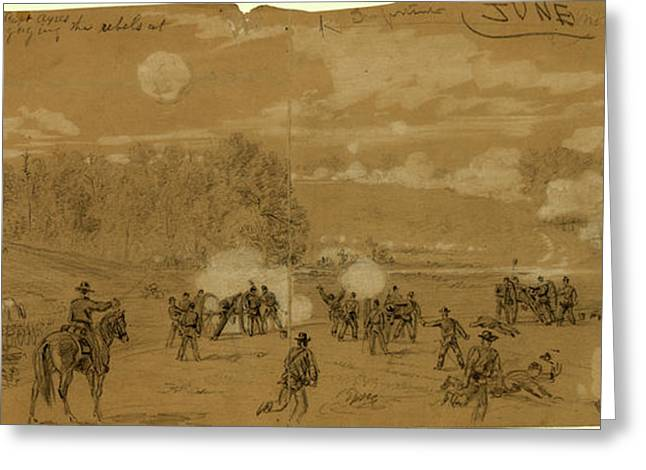 Artillery Of Smiths Division Commanded By Capt Greeting Card
