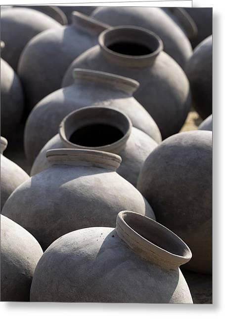 Artisan Making Clay Pot Greeting Card by David H. Wells