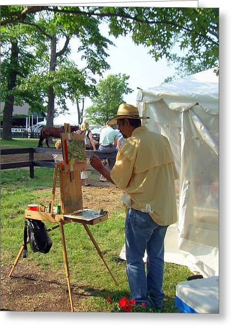 Artist At Upperville Greeting Card