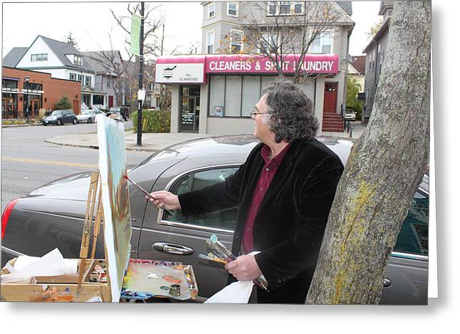 Artist At Work Buffalo Greeting Card