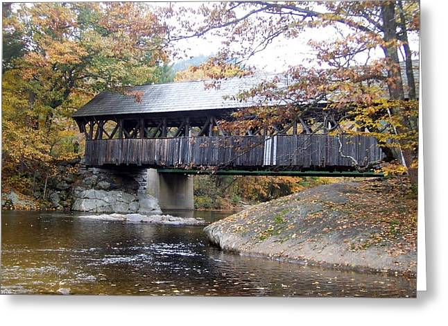Artist Covered Bridge Greeting Card by Catherine Gagne