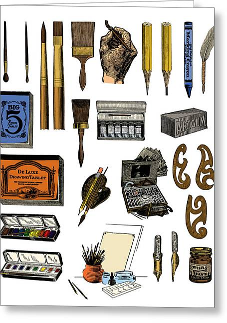 Artist Materials Greeting Card by Science Source