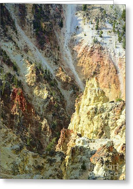 Artist Palette Of Yellowstone Greeting Card by Kathleen Struckle
