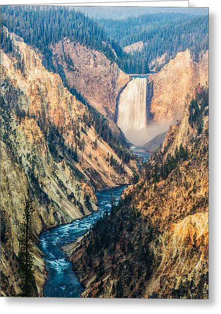 Artist Point In Yellowstone Greeting Card by Andres Leon