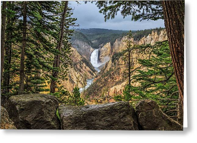 Artist Point Lower Falls   Greeting Card