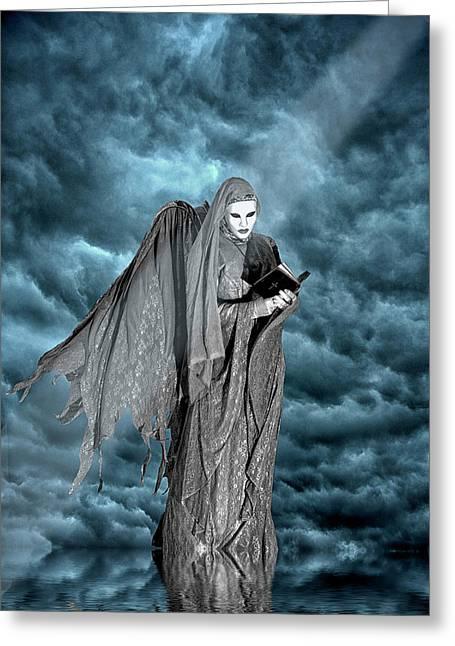 Artistic Creation Of Dark Angel Greeting Card