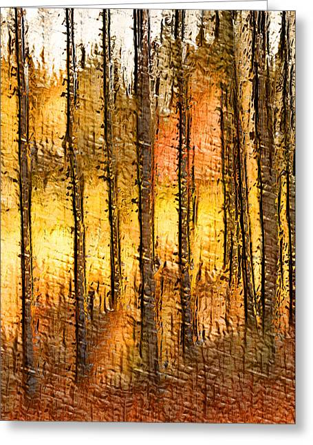 Artistic Fall Forest Abstract Greeting Card