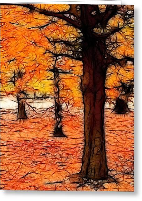 Artistic Fall Trees Greeting Card