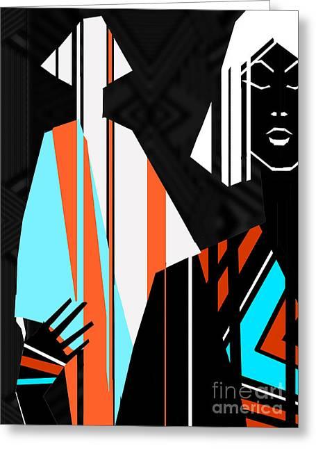 Artistic Fashion Colorful Illustration Greeting Card