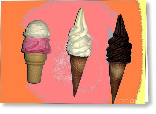 Artistic Ice Cream Greeting Card