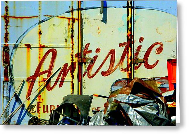 Artistic Junk Greeting Card by Kathy Barney