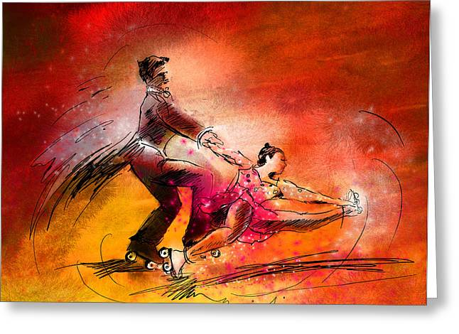 Artistic Roller Skating 02 Greeting Card