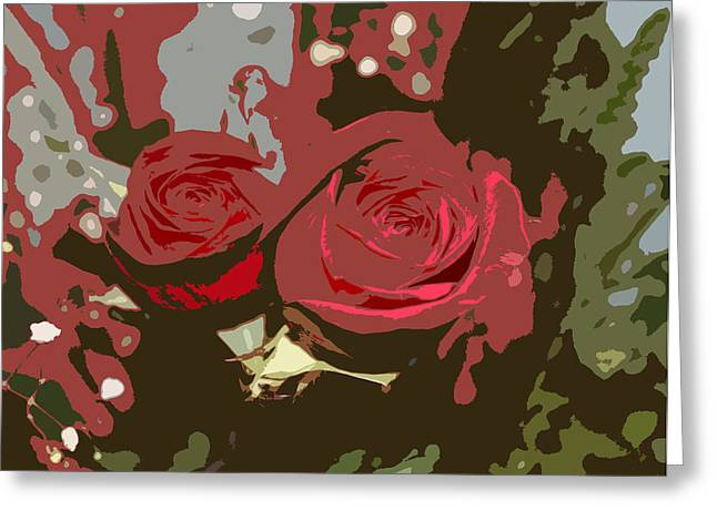 Artistic Roses Greeting Card