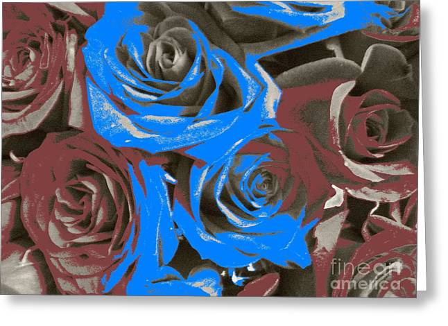 Greeting Card featuring the photograph Artistic Roses On Your Wall by Joseph Baril
