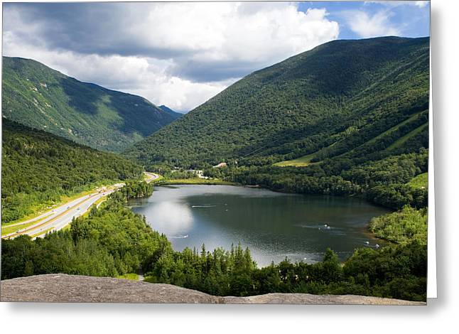 Artists Bluff At Echo Lake Nh Greeting Card