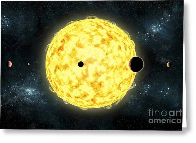 Artists Concept Of Kepler 444 Greeting Card