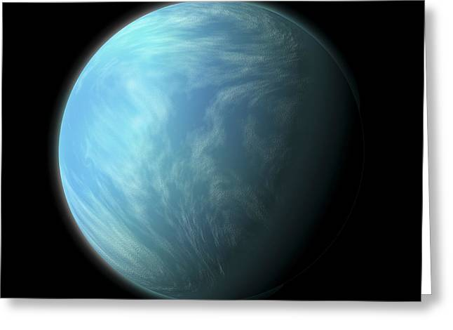 Artists Depiction Of Kepler 22b Greeting Card by Marc Ward