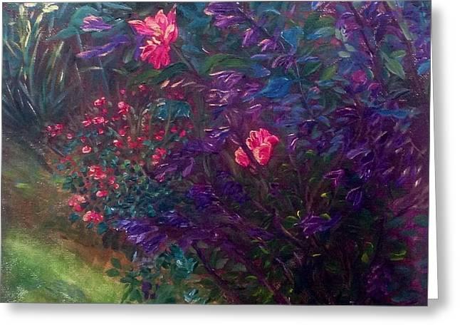 Artist's Garden In Spring I Greeting Card