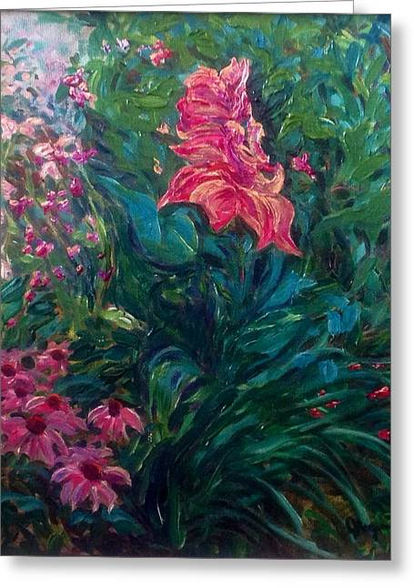 The Artist's Garden In Spring II Greeting Card