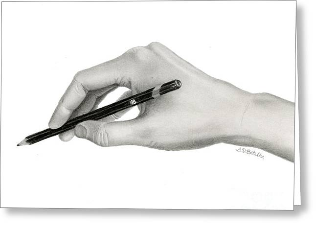 The Artist's Hand Greeting Card