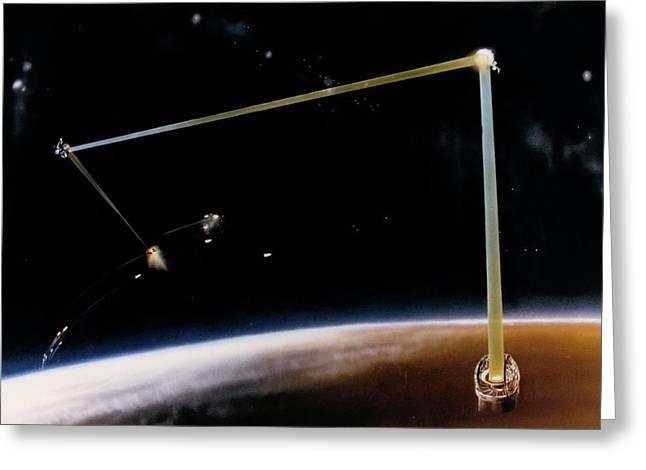 Artist's Impression Of Ground-based Sdi Laser Greeting Card
