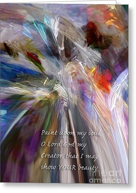 Artist's Prayer Greeting Card by Margie Chapman