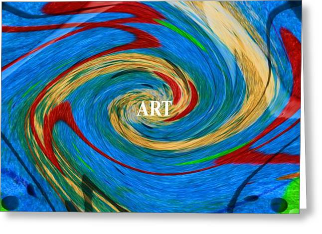 Artist's Vision Greeting Card by Dan Sproul