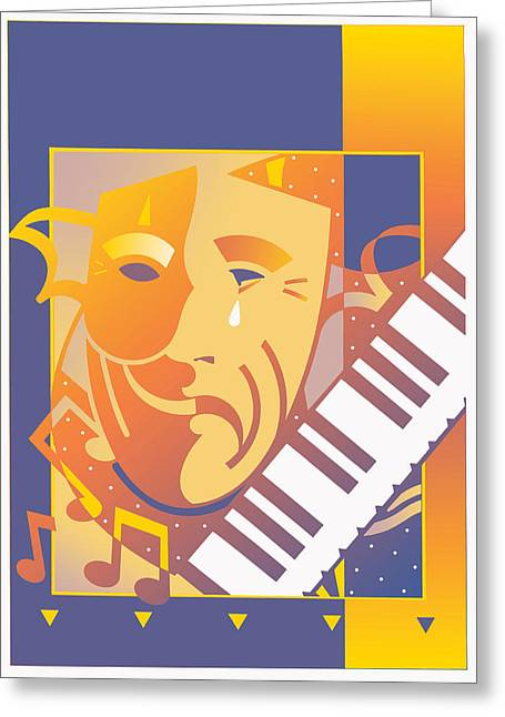 Arts And Music Greeting Card