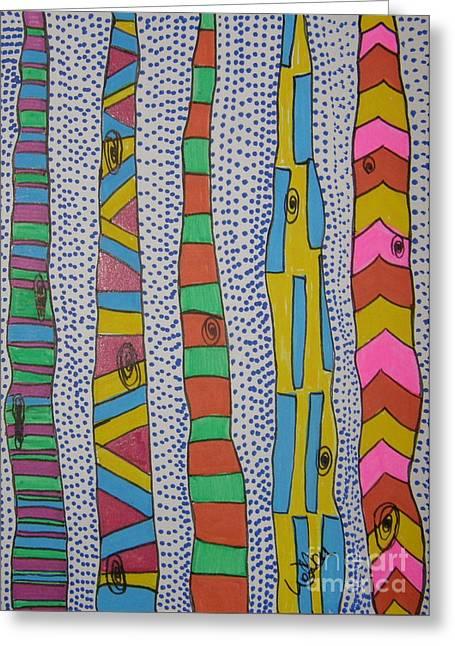 Artsy Birch Greeting Card by Marcia Weller-Wenbert