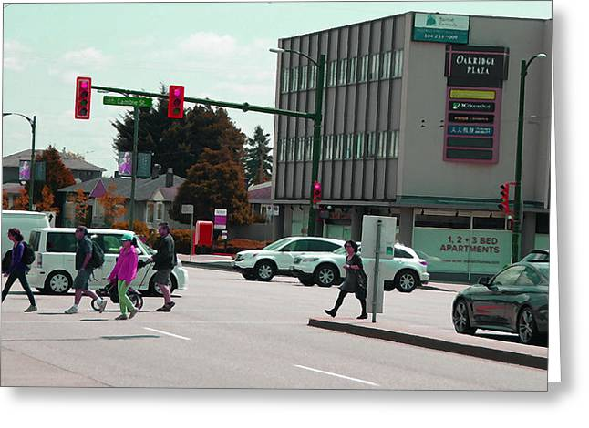 Greeting Card featuring the photograph Oakridge Intersection by Laurie Tsemak
