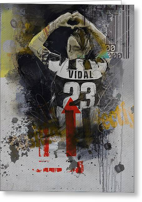 Arturo Vidal - B Greeting Card by Corporate Art Task Force