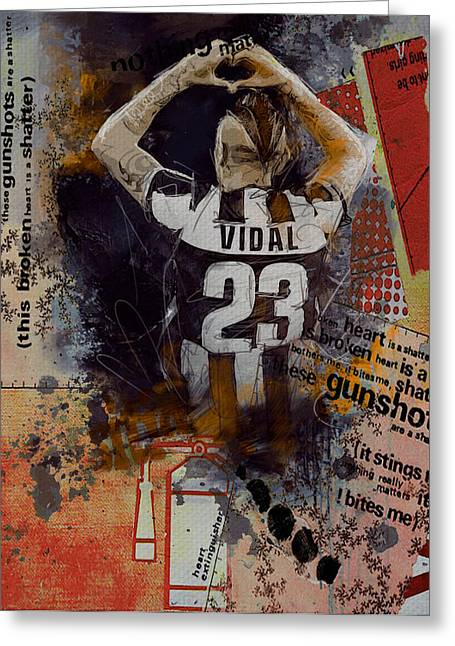 Arturo Vidal - C Greeting Card by Corporate Art Task Force