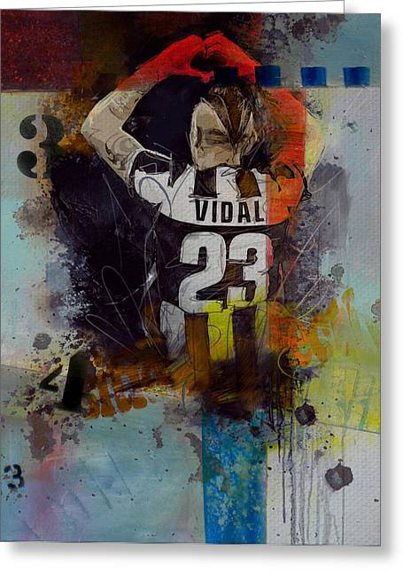 Arturo Vidal - D Greeting Card by Corporate Art Task Force
