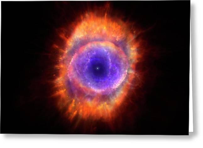 Artwork Of A Planetary Nebula Greeting Card