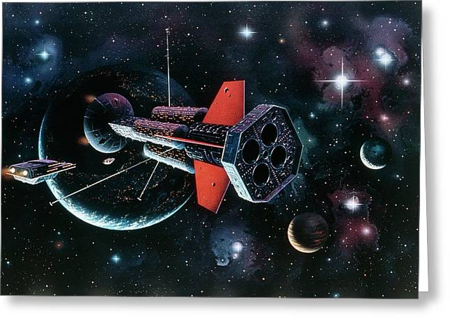 Artwork Of A Ramscoop Starship. Greeting Card
