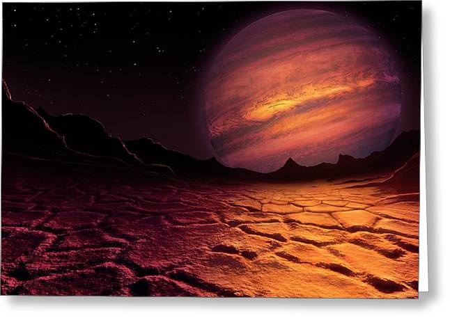 Artwork Of Brown Dwarf Seen From A Planet Greeting Card by Mark Garlick