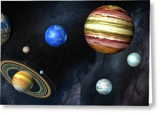 Artwork Of Exoplanets Greeting Card by Henning Dalhoff