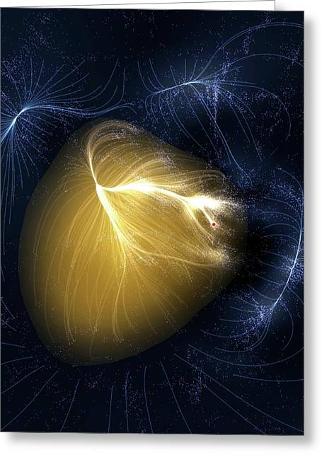 Artwork Of Laniakea Supercluster Greeting Card by Mark Garlick