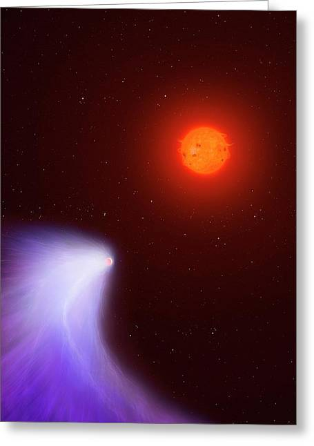 Artwork Of Mass-losing Planet Gj 436b Greeting Card by Mark Garlick