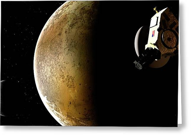 Artwork Of New Horizons Mission Greeting Card by Mark Garlick