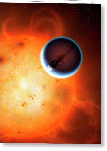 Artwork Of Planet Hd189733b Greeting Card by Mark Garlick