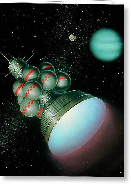 Artwork Of Starship Daedalus. Greeting Card