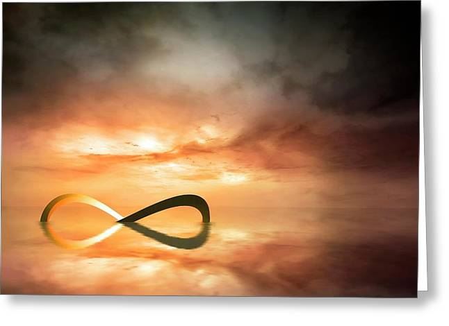 Artwork Of The Infinity Symbol Greeting Card