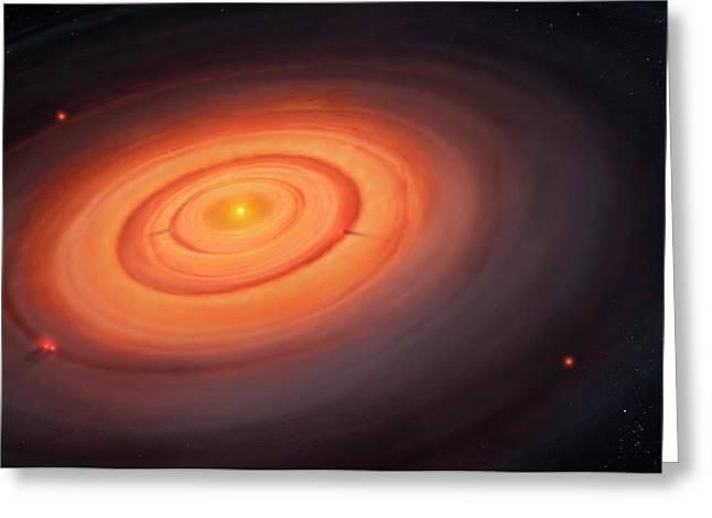 Artwork Of The Solar Nebula Greeting Card