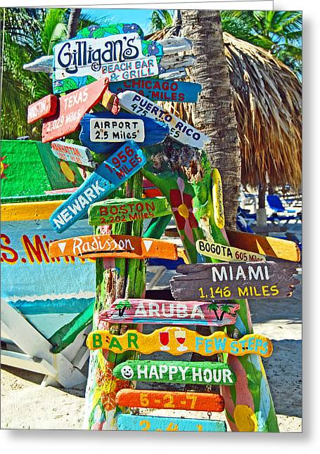 Aruba Fun Signs Greeting Card